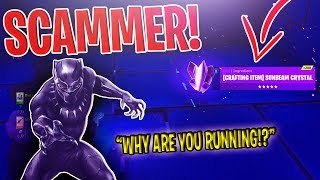 WAKANDA Meets a Dumb Scammer (SCAMMER GETS SCAMMED) - Fortnite Save The World