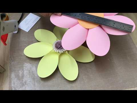 Video tutorial DAISY paper flower / how to make a paper flower / paper flower class