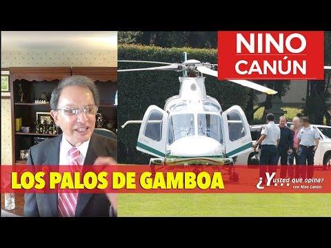 EMILIO GAMBOA USA HELICOPTERO OFICIAL PARA JUGAR GOLF