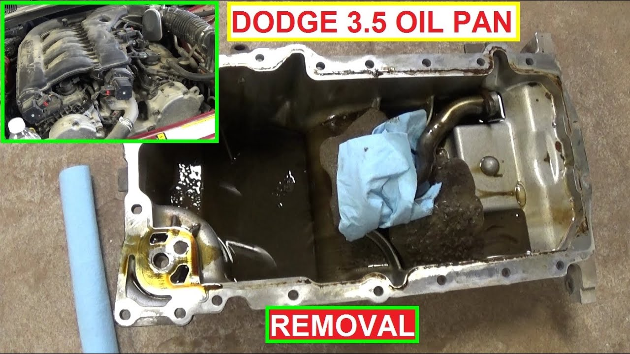 oil pan removal oil pan gasket dodge magnum 3 5 dodge charger 3 5 rh youtube com Chrysler 3.5L Engine 3.5L Chrysler Engine Problems