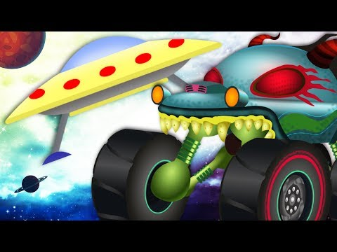 Alien Invasion | Haunted House Monster | Truck Videos By Kids Channel