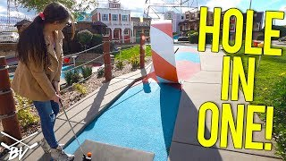 BACK TO BACK MINI GOLF HOLE IN ONE AND GUARANTEED HOLE IN ONE CHANCES!
