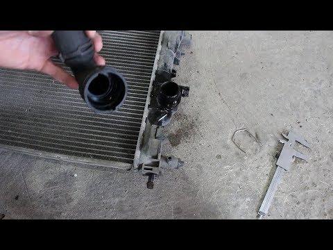 Заводской дефект радиатора LUZAR на Chevrolet Cruze 1,8 Шевроле Круз 2011 года