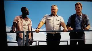 Jurassic World Owen Grady (Chris Pratt) controlling the raptors. Blue, Delta, Echo, and Charlie.