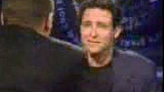Jim Everett attacks guy during interview