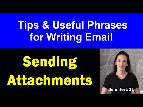 Write Better Emails in English: Sending Attachments - English with Jennifer