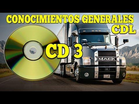 PREGUNTAS DE LA CDL CONOCIMIENTOS GENERALES CD3/EXAMEN ESCRITO DE LICENCIA PARA CAMION