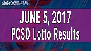 Lotto Result June 5, 2017 (6/55, 6/45, 4D, Swertres & EZ2)