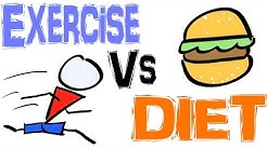 DIET vs EXERCISE - The BEST For Losing Weight