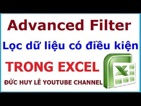 Lọc dữ liệu với nhiều điều kiện trong Excel bằng Advanced Filter