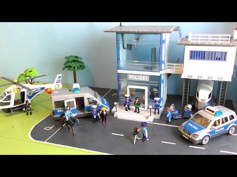 🚓 Polizei Spielzeug Für Kinder: 1 Tag Bei Der Polizei - Polizeiautos / Police Vehicles For Kids
