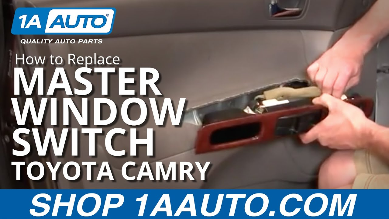 How To Install Replace Master Drivers Power Window Switch Toyota A Brake Controller In Aurion Camry Using Seatheater 02 06 1aautocom