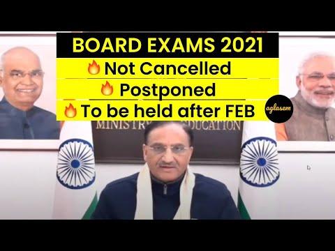 Board Exams 2021: Ramesh Pokhriyal Live 📢 Exam After Feb 📢 Not Cancel 📢 Offline Only [Full Webinar]