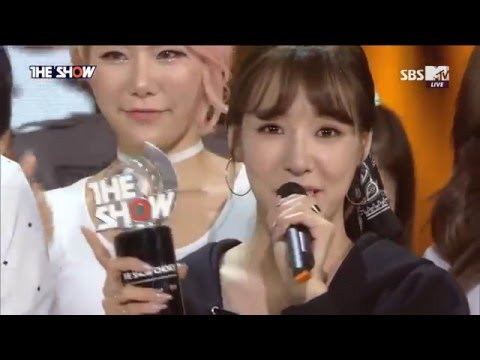 160517 Tiffany (티파니) - No.1 & Encore ( I Just Wanna Dance 1st Win )