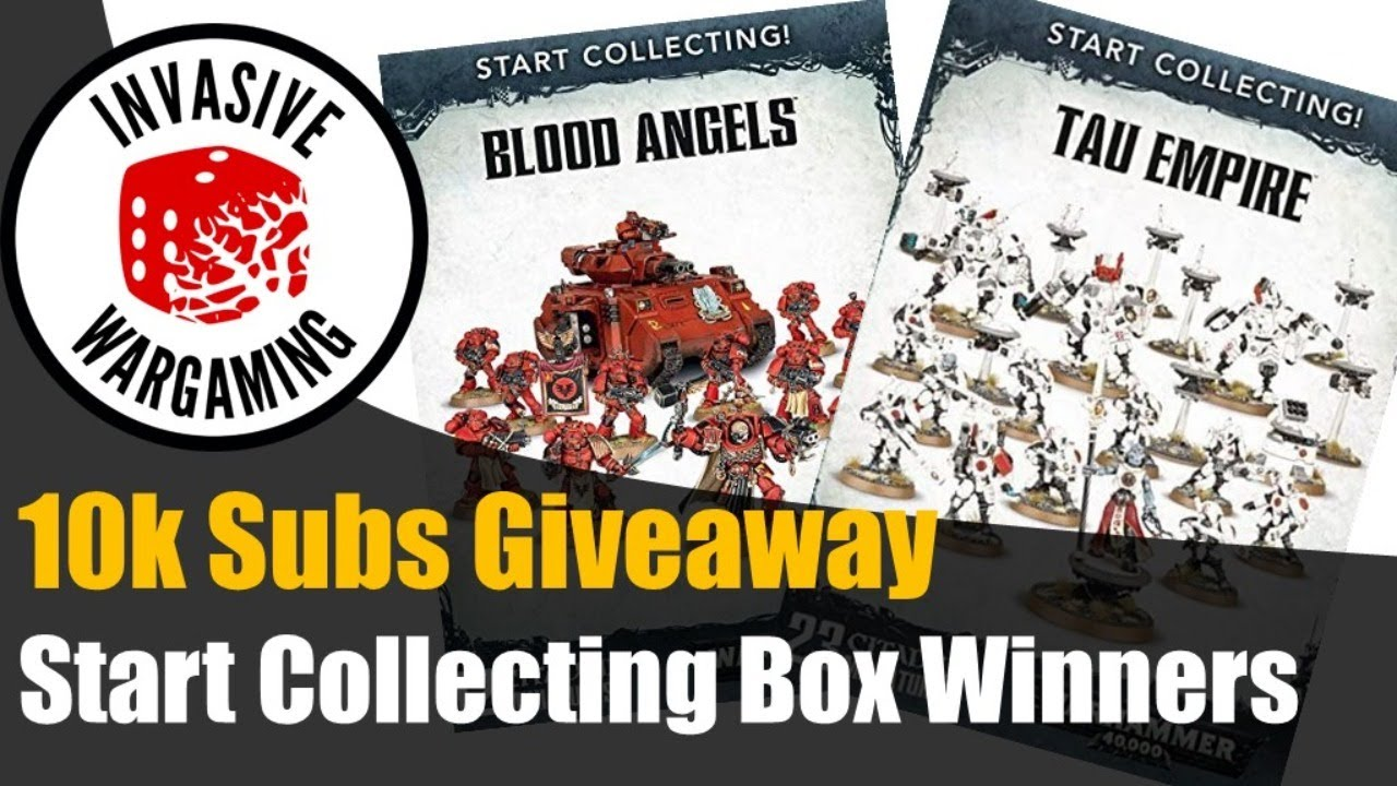 Start  Collecting Box Giveaway Winners | Warhammer 40k