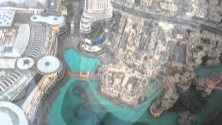 UAE: DUBAI, BURJ KHALIFA, FOUNTAIN, NIGHT CITY