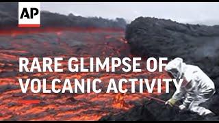 Rare glimpse of volcanic activity on remote Kamchatka peninsula