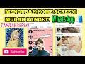 Tutorial Mengubah Wallpaper Beranda/Home Screen WhatsApp - [Use Photo BTS/EXO pake foto sendiri]