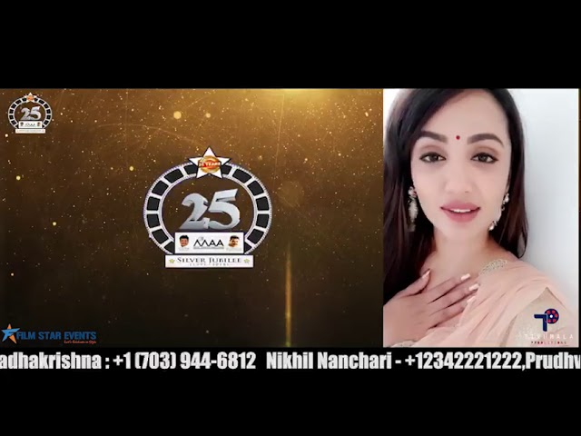 Tejaswi Madivada invites all for MAA Silver Jubilee Celebrations Event 2018 - Dallas | DesiplazaTV