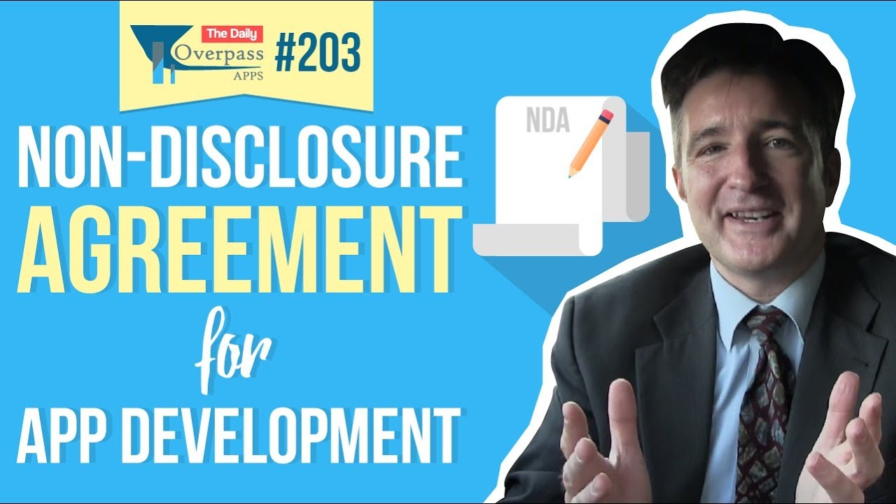 Non Disclosure Agreements Ndas For App Development Youtube