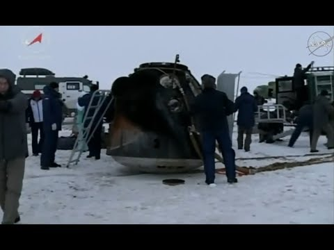 Soyuz MS-06 - Return to Earth
