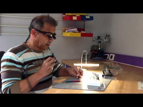 Gérald Ubassy Light for studying surface texture!