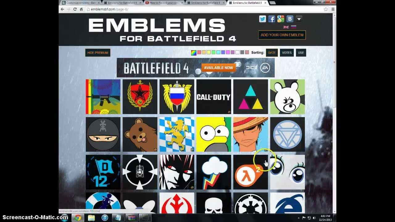 bf4 emblems(new)