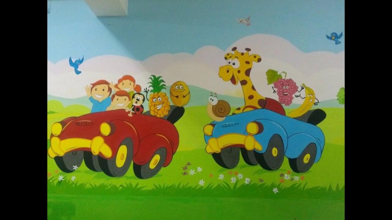 vẽ tranh tường phòng ngủ bé yêu _ctyArt Trung Tín :0976 476 894