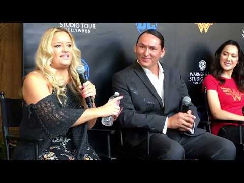 WB Hollywood Tours Wonder Woman Exhibit Lucy Davis Talks Boots at Media Event 2017