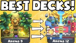 Clash Royale BEST ARENA 9 - ARENA 12 DECKS UNDEFEATED | BEST DECK ATTACK STRATEGY TIPS F2P PLAYERS