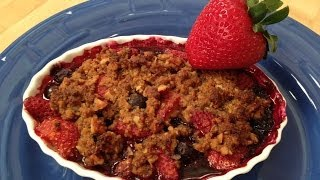 Easy Fresh Mixed Berry Crumble