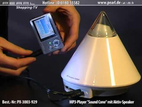 auvisio Design-MP3-Player mit SD-Slot, Lautsprecher & Beleuchtung