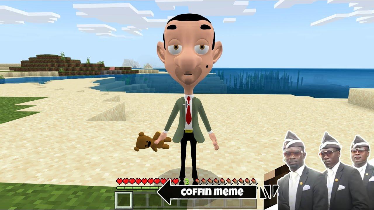 I found Real Mr. Bean Cartoon in Minecraft - Coffin Meme