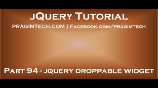 jQuery Droppable Widget