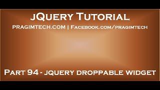 jQuery Droppable Widget