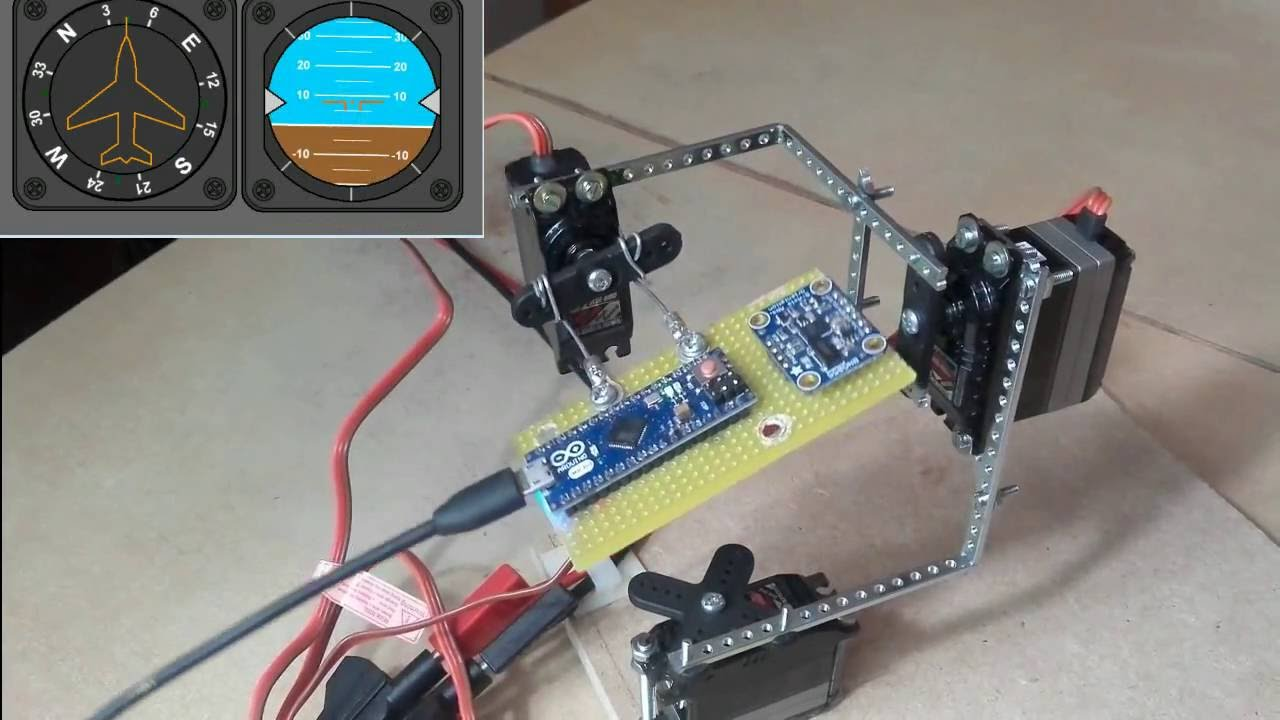 Arduino Uno connected to an Adafruit BNO055 breakout board to track  orientation for robot