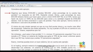 Curso de Forex - 61 de 99 - Gestión del Capital y el Drawdown