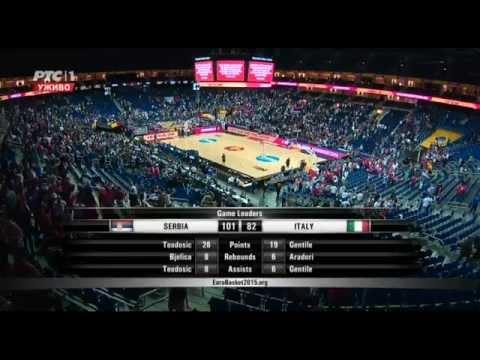 EuroBasket 2015 Serbia - Italy 101-82