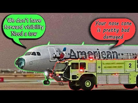 American #AA1897 DIVERTS TO EL PASO WITH SEVERE DAMAGE due to hail!
