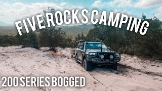 FIVE ROCKS CAMPING | BÏG SANDY FAIL & 200 SERIES BOGGED | BYFIELD NATIONAL PARK 4WDING | YEPPON QLD