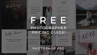 Photographer Pricing Guide Template! FREE PHOTOSHOP PSD DOWNLOAD