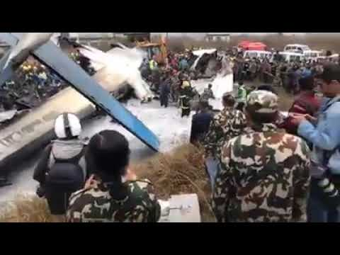 US BANGLA PLANE CRASH KATHMANDU NEPAL TRIBHUVAN INTERNATIONAL AIRPORT...