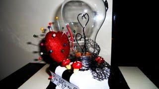 Diy Valentine's Day Gift (tim Burton Inspired Bulb )