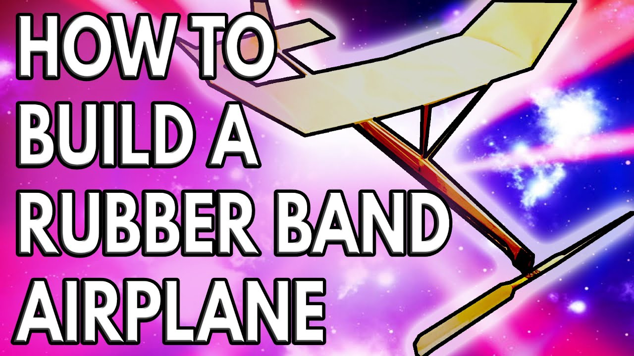 Rubber Band Indoor Free Flight Model Airplane Youtube