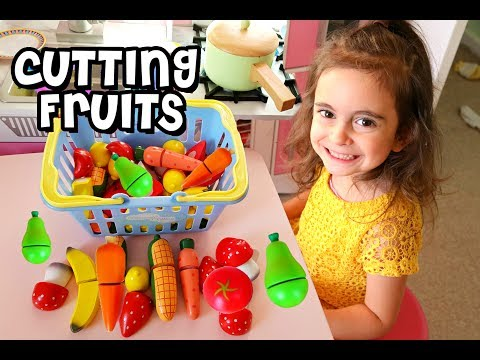Thumbnail: Toy Cutting Fruits Vegetables | Playtime with Emily | Learn Colors for Kids Play