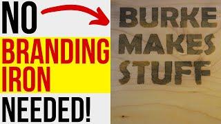 Wood Burning with Ammonium Chloride / No Wood Burning Tools Needed!