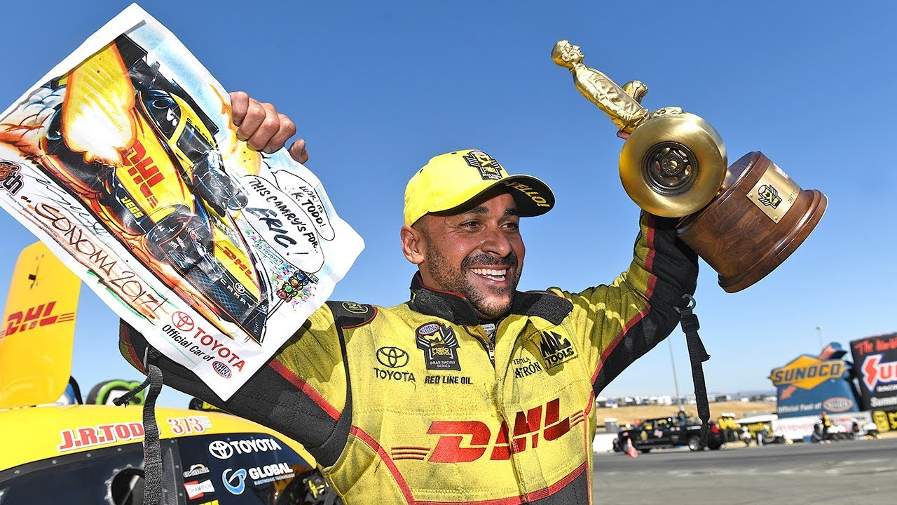 J R  Todd becomes the 16th driver to win in both Funny Car and Top Fuel