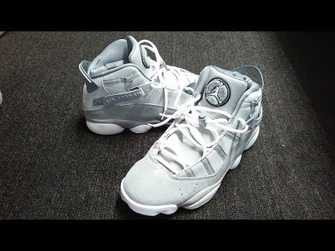 726844897e7 Nike Air Jordan 6 Rings Cool Grey Unboxing
