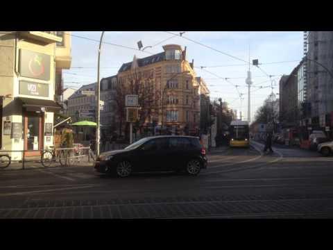 BERLIN CITY TOUR: Nice Street Views at Oranienburger Tor/ U-Bahn Station