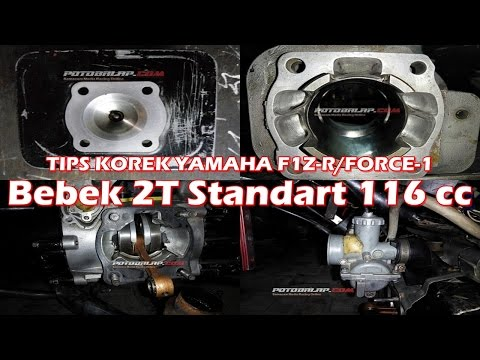 TIPS KOREK YAMAHA F1Z-R/FORCE-1 DRAGBIKE BEBEK STANDART 116cc  RAT Motorsport